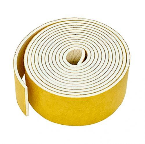 Silicone rubber strip sponge self adhesive 12mm wide x 3mm thick