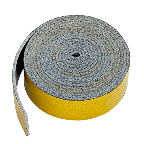 HT800 Grey Silicone Sponge strip self adhesive 12mm wide x 0.8mm thick