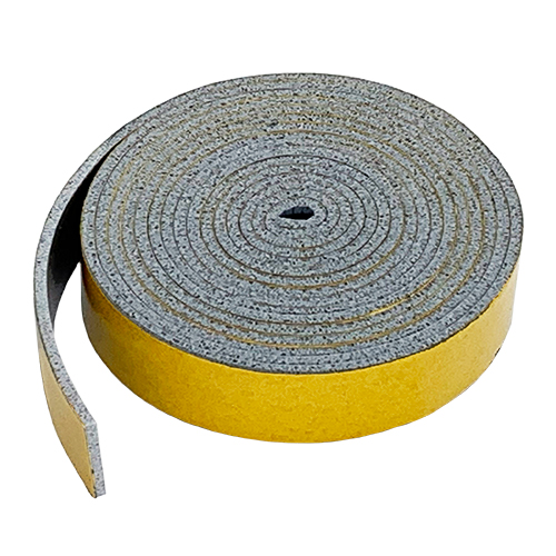HT800 Grey Silicone Sponge Rubber Strip Self Adhesive 0.8mm thick