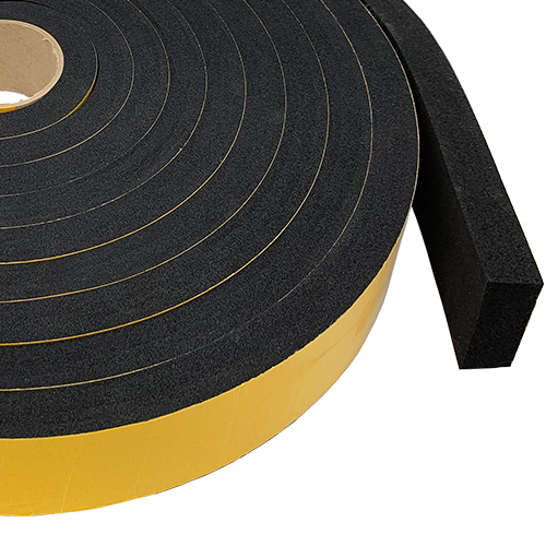 Sponge Rubber Strip Self Adhesive Tape 25mm Thick
