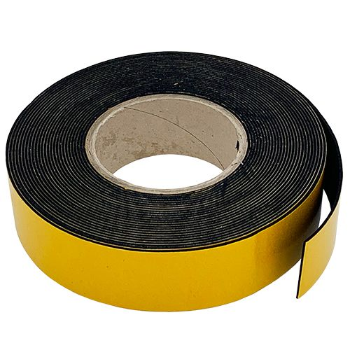 PVC Nitrile BS476 Class 0 Rubber Strip Self adhesive 125mm Wide x 25mm Thick (8m)