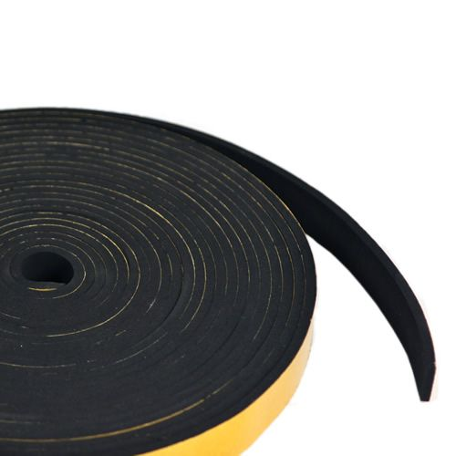 Self Adhesive Sponge Rubber Strip 75mm wide x 25mm thick