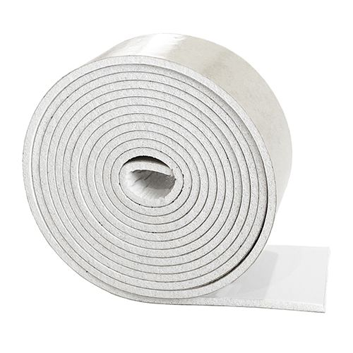 Silicone rubber strip sponge 10mm wide x 1.5mm thick
